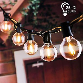 String lights connectable to 25 g40 bulbs 7.62m waterproof string - with 2 spare bulbs dt7117
