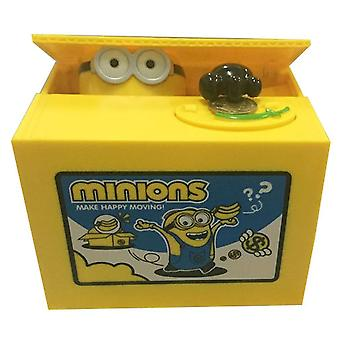 New Despicable Me Minions Piggy Bank Savings Money Stealing Greedy Money Box ES9325