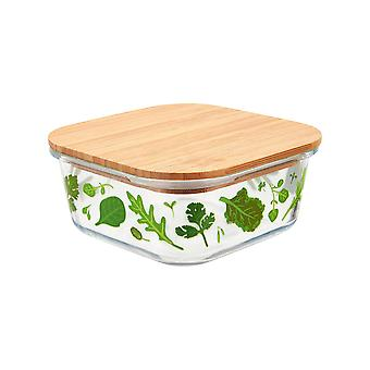 Sass & Belle Small Powered by Plants Glass Storage Box