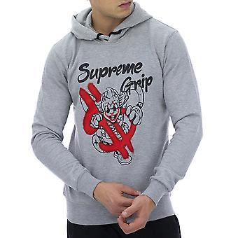 Supreme Grip Menn Sweatshirt Hyena Grå