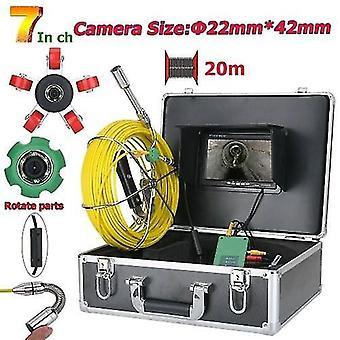 Cámara de vídeo de inspección de tuberías de 7 pulgadas y 22 mm