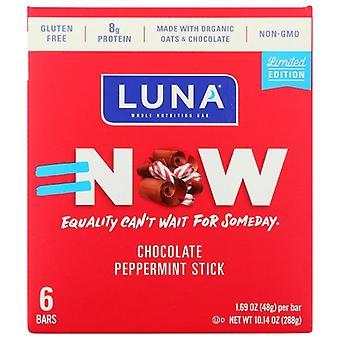 Luna Bar Choc Peppermint Stick, حالة 6 X 10.14 Oz