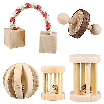 Popetpop 5szt Chomik Żuć Zabawki Naturalny molowy blok dla królików szczurów świnka morska
