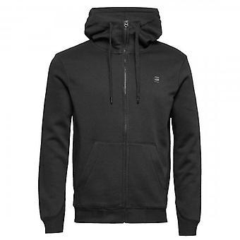 G-Star G- Star Raw Premium Core Zip Up Hoody Sweatshirt Black D16122