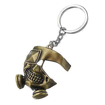 Cool Tokyo Ghoul Metal Mask Brelok Japoński Anime Wisiorek Brelok Pierścień Halloween
