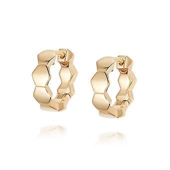 Daisy Bethany Huggie Hoop 18ct Gold Plate Earrings HUG08_GP