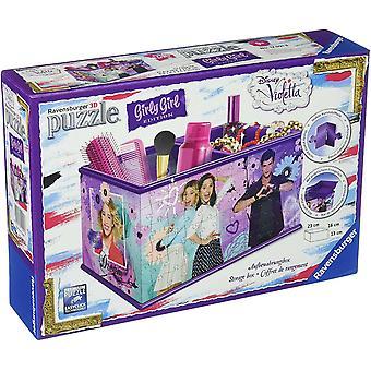12091 - 3D-Puzzle Girly Girl Edition Aufbewahrungsbox, violett