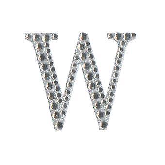 5cm Klar Selvklebende Diamante Bokstaver - W | Diamante Edelstener Utsmykninger