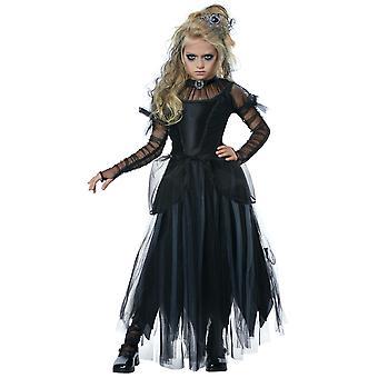 Dark Princess Royal Gothic Medieval Halloween Fairytale Child Girls Costume