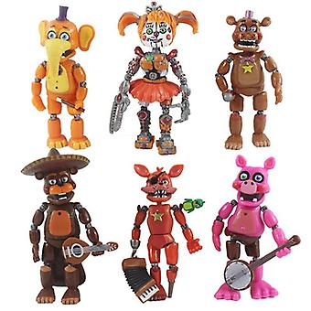 6PCS FNAF Five Nights At Freddy's Action Figures Toy