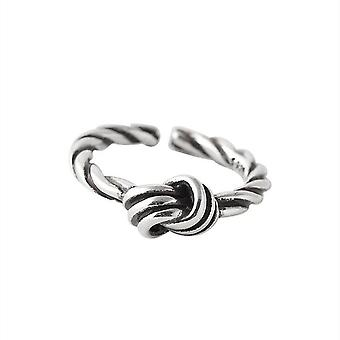 3PCS נחושת רטרו טוויסט קשר טבעות נקבה מתכווננת במצוקה ארוגים טבעת פתיחה זוגות