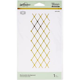 Spellbinders Glimmer Hot Foil Plate By Becca Feeken - Diamonetta-Delicate Impressions