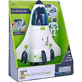 Avaruusaluksen lentokonelelut lapsille valoilla & ääni & astronauttihahmo