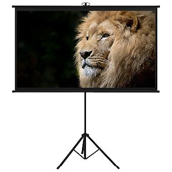 """Projection Screen with Tripod 84"""" 4:3 Film Display Projector Screen"""