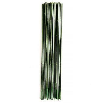 100Pcs 17cm/25cm diy artificial silk flower stem green plastic wire wreath bouquet wrap flower stick florist craft decor #262