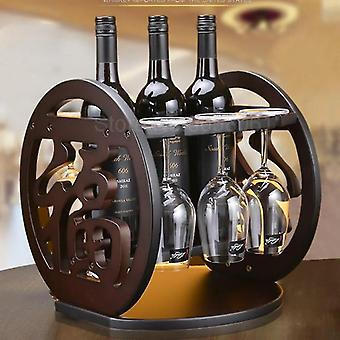 Wine Rack Decoration Nordic Creative Simple Solid Wood Shelf /hanging Cup