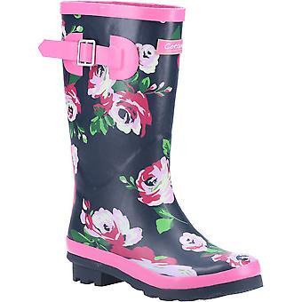 Cotswold Girls Flower Imperméable à l'eau Haute Wellington Boots