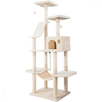 Cat Climbing Scratching Post With Scratcher Activity Centre