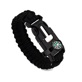 Outdoor chairs outdoor survival paracord bracelet with compass fire starter and emergency whistle