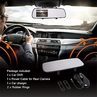 1080p Ultra-thin Rear-view Mirror Dash Vehicle Car Camera Video Recorder