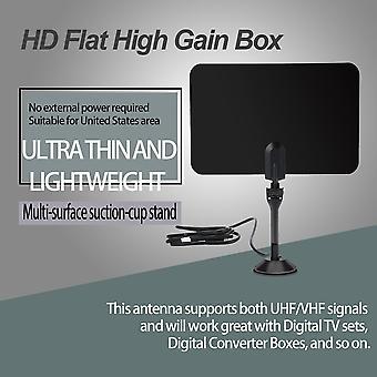 Ultra mince intérieur Antenne de télévision numérique Hd Flat Design High Gain Hd Tv Dtv Box