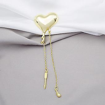 Love Tassel Water Droplet Flow Trend Clothing Coat Brooch Corsage
