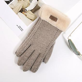 Winter New Plush Stretch Knit Pair Of Cute Students Warm Gloves
