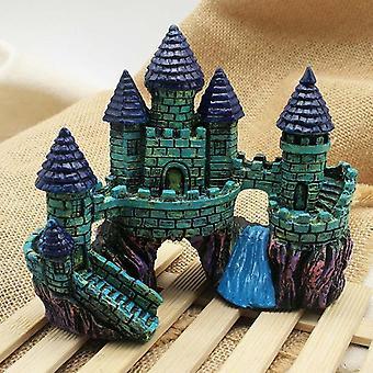 Cartoon Resin Castle Aquariums Castle Decoration Aquarium Fish Tank Tower