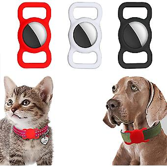 3 Pcs Airtags Protective Case For Apple Air_tag Holder Adjustable Gps Tracking Dog Cat Accessories Collar