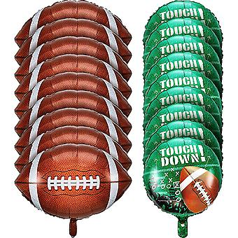 Football Balloons Set,  For Tailgate Game Day Football Theme Supplies Birthday Party Decorations (18 Pieces)