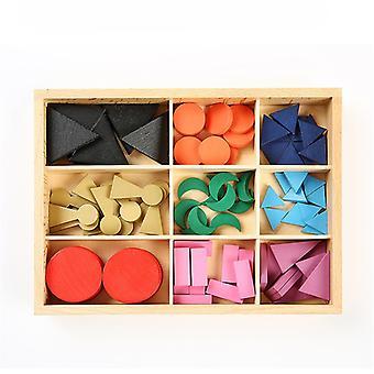 モンテッソーリ言語おもちゃの木の文法記号言語は、ボックス就学前の列車でおもちゃの基本的な木製の文法記号を行使します