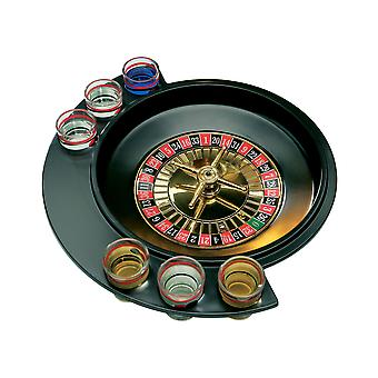 6 Glas Lucky Shot Trinkspiel für Dinner Party Glas inklusive Roulette