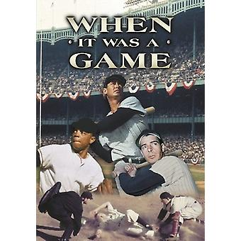 When It Was a Game 1 [DVD] USA import