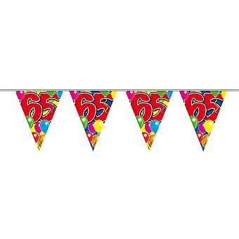Wimpelkette 10m Zahl 65 Jahre Geburtstag Deko Party Girlande