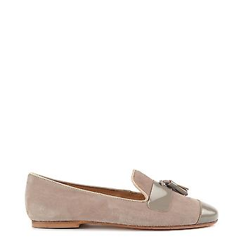 Elia B Schuhe Rom Taupe Suede Tassel Loafer