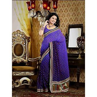 Chitralekha Deep Mauve Faux Crepe Luxury Party Wear Sari saree
