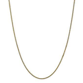 14 k giallo oro lucido aragosta artiglio chiusura 1,5 mm scatola catena cavigliera - 9 pollici - moschettone