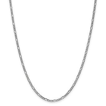14k 2,5 mm biele zlato duté leštené ľahký homár pazúr uzavretie Figaro reťaz členok náramok šperky Darčeky pre Wome