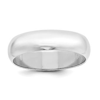 925 Sterling Zilver Massief gepolijst Half Round Graveerbare 6mm Half Round Band Ring Sieraden Geschenken voor vrouwen - Ring Size: 4