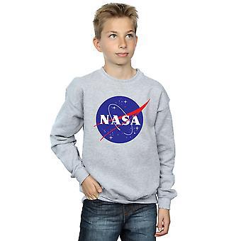 NASA 男の子古典的な記章ロゴ スウェット シャツ