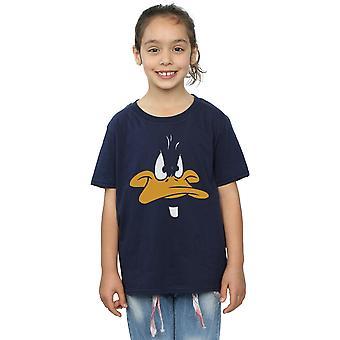 Looney Tunes meisjes Daffy Duck grote gezicht T-Shirt