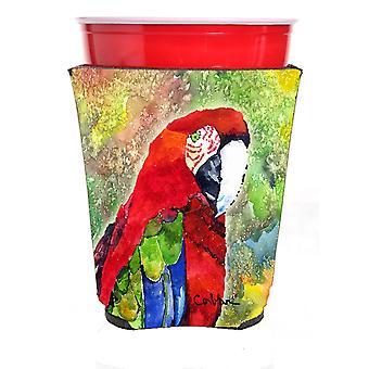 Carolines Treasures  8606RSC Parrot Red Solo Cup Hugger