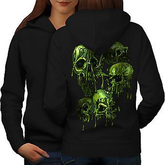 Slime Dark Skeleton Women BlackHoodie Back   Wellcoda