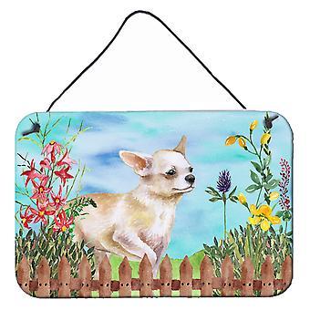 Chihuahua been omhoog lente muur of deur hangen Prints