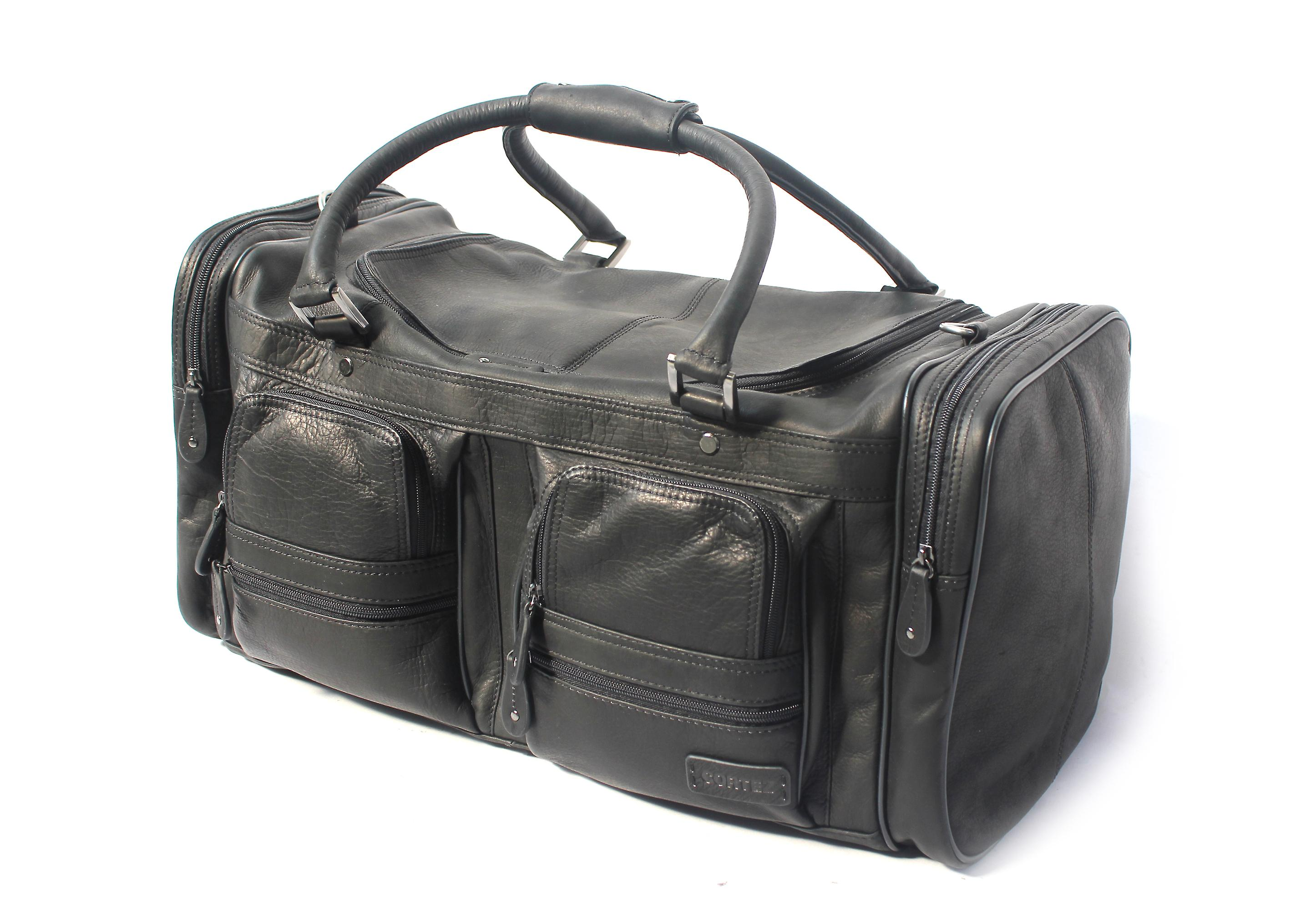 Cortez Colombian Leather Cargo Holdall Large Travel Bag Overnight Weekend Case