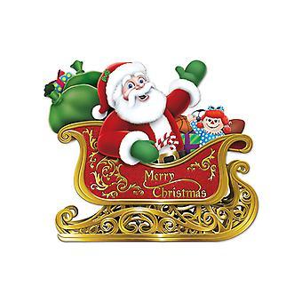 Санта в санях вырез 24¾» x 29