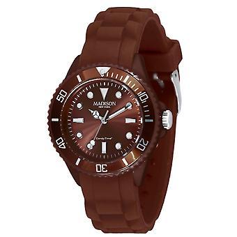 Candy tijd door Madison N.Y.. horloge mini L4167-19-1-Brown