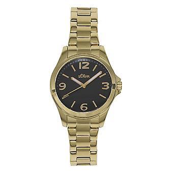 s.Oliver женские наручные часы аналоговые IP золото так-15107-MQR