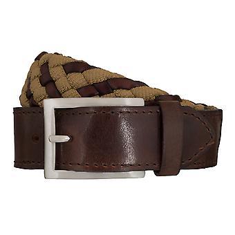 SAKLANI & FRIESE belts men's belts woven belt brown/beige 5434