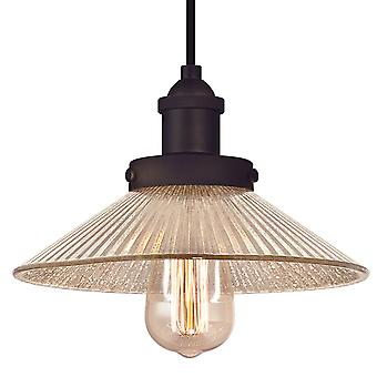 Pendant Bonnie Oil Rubbed Bronze with Antique Ribbed Mirror Glass